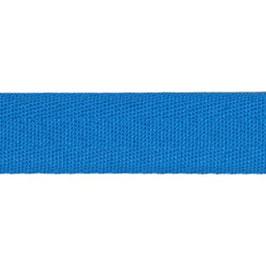 Keperband van polyester 20 mm blauw