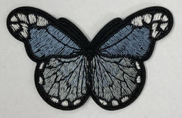 Grote vlinder applicatie licht blauw / grijs
