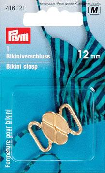 Bikini sluiting van Prym 12 mm goudkleur