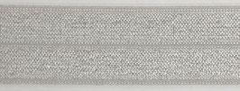 Biaisband elastisch zilvergrijs
