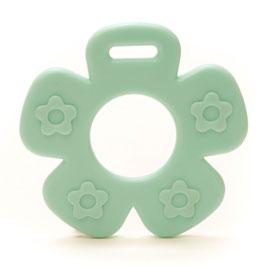Mint blauwe bloem met bloemprint bijtring van Durable.