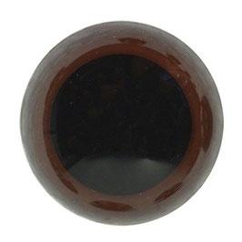 Veiligheidsogen 18 mm bruin