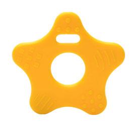 Donker gele ster bijtring van Durable.