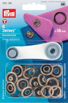 Drukknopen inslaan brons kleur voor tricot open ring 18 mm