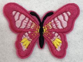 Applicatie vlinder Fuchsia met een zwart lijf