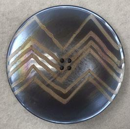 Ronde knoop lichtblauw met zigzag streep 4 gaats