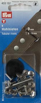 Holnieten zilver kleur 6-9 mm