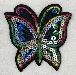 Pailletten vlinder applicatie regenboog nr4