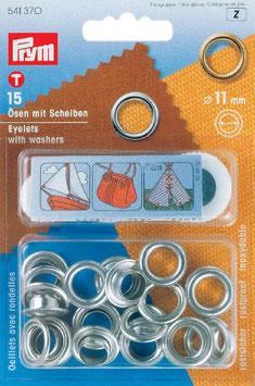 Ringen met schijven 11 mm zilverkleurig