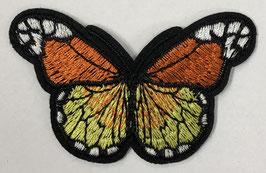 Grote vlinder applicatie geel / donker oranje