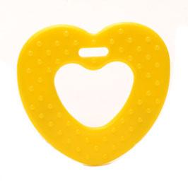 Gele ribbel hartjes bijtring van Durable.