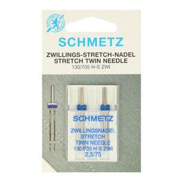 Schmetz stretch tweelingnaald 130/705 H S ZWI 2,5-75 ( duopak)