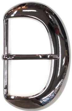 Metalen gesp D vorm donker glans metaal nr:917