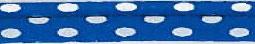 Bolletjes paspelband licht blauw