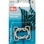 Bikini sluiting van Prym 25 mm zilverkleur