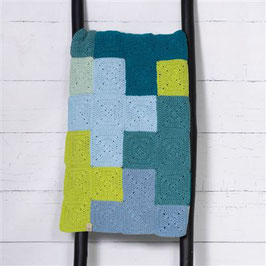 Durable Criss-Cross Blanket Blue 180x120cm