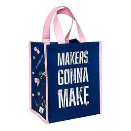 "Small Shopper met de text ""makers gonna make"" en attributen"