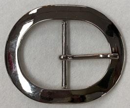 Metalen gesp ovaal glans metaal nr:912