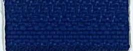 Kobalt blauwe rits met brons kleur metaal