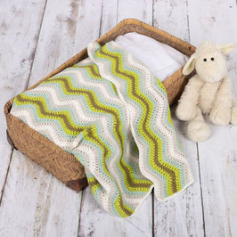 Baby Ripple Blanket crochetkit - Green