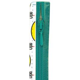 Turquoise rits met druppel trekker niet deelbaar