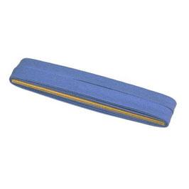 Lavendel blauw biaisband van katoen 12 mm op 5 meter kaartje