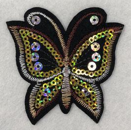 Pailletten vlinder applicatie geel
