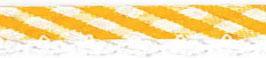 Ruitjes biaisband met een kantje geel