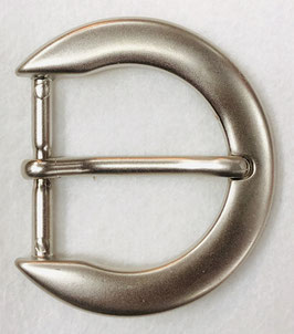 Metalen gesp D vorm dof metaal nr:306