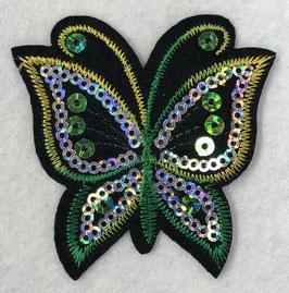 Pailletten vlinder applicatie groen