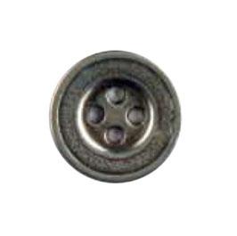 Metaal knoop 4 gaats oudzilver kleur
