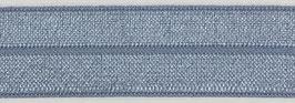 Biaisband elastisch ijs-blauw