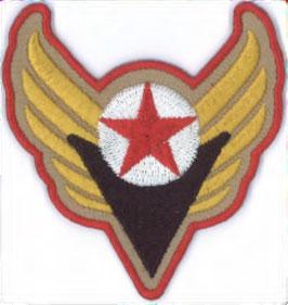 Leger embleem met rode ster