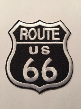 Route 66 embleem applicatie zwart