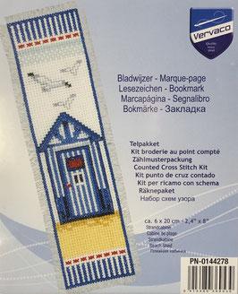 Bladwijzer borduurpakket van een strandhuis