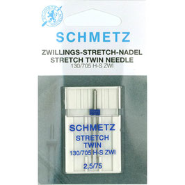 Schmetz stretch tweelingnaald 130/705 H S ZWI 2,5-75