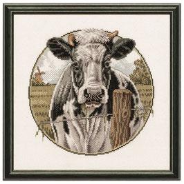 Borduurpakket van een koe.