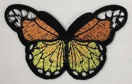 Grote vlinder applicatie geel / licht oranje