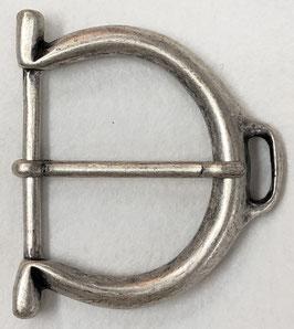 Metalen gesp D vorm dof metaal nr:902