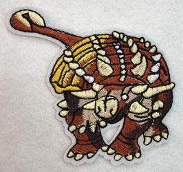 Oranje Ankylosaurus dinosaurus applicatie