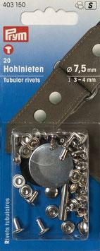 Holnieten zilver kleur 3-4 mm