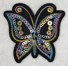 Pailletten vlinder applicatie regenboog nr1