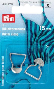 Bikini sluiting van Prym 15 mm zilverkleur