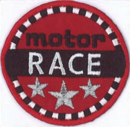 Motor race embleem applicatie
