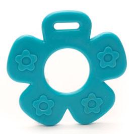 Blauwe bloem met bloemprint bijtring van Durable.