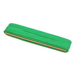 Licht groen biaisband van katoen 12 mm op 5 meter kaartje