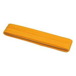 Geel biaisband van katoen 12 mm op 5 meter kaartje