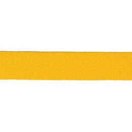 Keperband van polyester 20 mm geel
