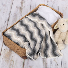 Baby Ripple Blanket crochetkit - Grey