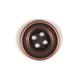 Metaal knoop 4 gaats brons kleur